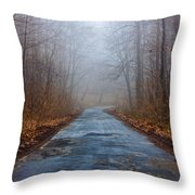 I Walk A Lonely Road Throw Pillow