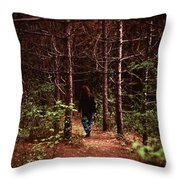 I Walk Alone Throw Pillow