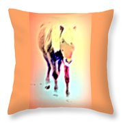 I Walk The Line And I Do It All By Myself  Throw Pillow