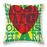 I Walk The Line - Johnny Cash Lyric Poster Throw Pillow