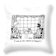 I Want My Ashes Scattered Over Bergdorf's Throw Pillow by Victoria Roberts