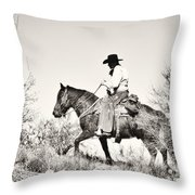 I Went Up To The Mountain... Throw Pillow
