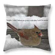 I Will Be Remembered Throw Pillow