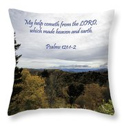 I Will Lift Up My Eyes Throw Pillow