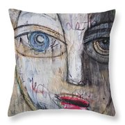 I Will Not Abandon Me Throw Pillow