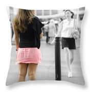 I Would Rather Wait For The Green Light Throw Pillow