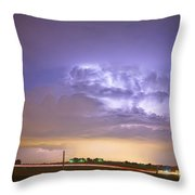 I25 Intra-cloud Lightning Strikes Throw Pillow by James BO  Insogna
