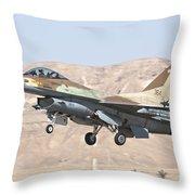 Iaf F-16c Jet Fighter Throw Pillow