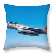 Iaf Fighter Jet F-15i In Flight Throw Pillow