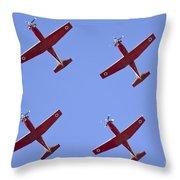 Iaf Flight Academy Aerobatics Team 4 Throw Pillow