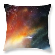 Iam Here Throw Pillow