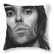 Ian Brown Pencil Drawing Throw Pillow