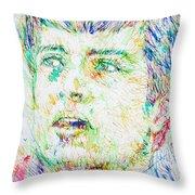 Ian Curtis Portrait Throw Pillow