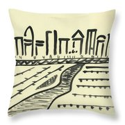 Ian's Metropolis  Throw Pillow