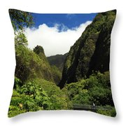 Iao Needle - Iao Valley Throw Pillow