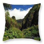 Iao Needle - Iao Valley Throw Pillow
