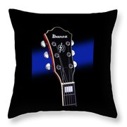 Ibanez Af75 Electric Hollowbody Guitar Headstock Throw Pillow