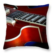 Ibanez Af75 Hollowbody Electric Guitar Cutaway Detail Throw Pillow