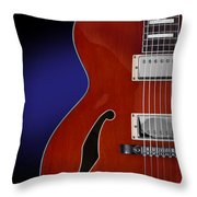 Ibanez Af75 Hollowbody Electric Guitar Front View Throw Pillow