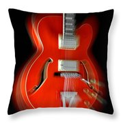 Ibanez Af75 Hollowbody Electric Guitar Zoom Throw Pillow