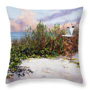 Ibis Sunset Throw Pillow