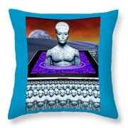 iBots Take Over Throw Pillow by Keith Dillon