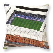 Ibrox Stadium Throw Pillow