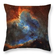 Ic 1805, The Heart Nebula In Cassiopeia Throw Pillow