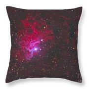 Ic 405, The Flaming Star Nebula Throw Pillow