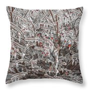 Ice Abstract 1 Throw Pillow