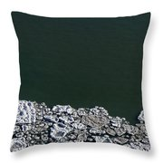 Ice Abstract 10 Throw Pillow