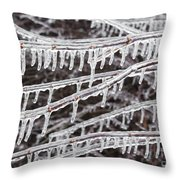 Ice Abstract 2 Throw Pillow