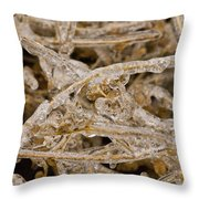 Ice Abstract II Throw Pillow