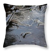 Ice Abstration 2 Throw Pillow