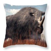 Ice Age Rhino Throw Pillow