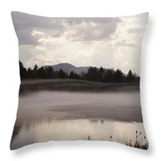 Ice And Fog Throw Pillow