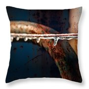 Ice And Rust Throw Pillow