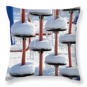 Ice And Snow-5637 Throw Pillow