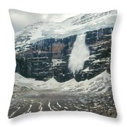 1m3545-01-ice Avalanche On Mt. Victoria Throw Pillow