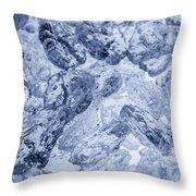 Ice Background Throw Pillow