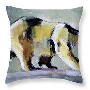 Ice Bear Throw Pillow by Mark Adlington