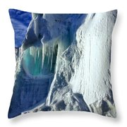 Ice Berg Up Close And Personal Throw Pillow