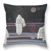 Ice Bergs Throw Pillow