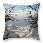 Ice Between The Trees Throw Pillow