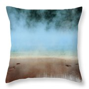Ice Blue And Steamy Throw Pillow
