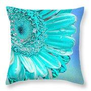 Ice Blue Throw Pillow by Carol Lynch