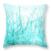 Ice Branches Throw Pillow