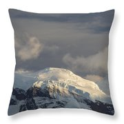 Ice-capped Mountains Anvers Island Throw Pillow