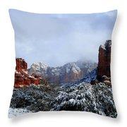 Ice Castles Throw Pillow