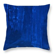 Ice Cave Throw Pillow